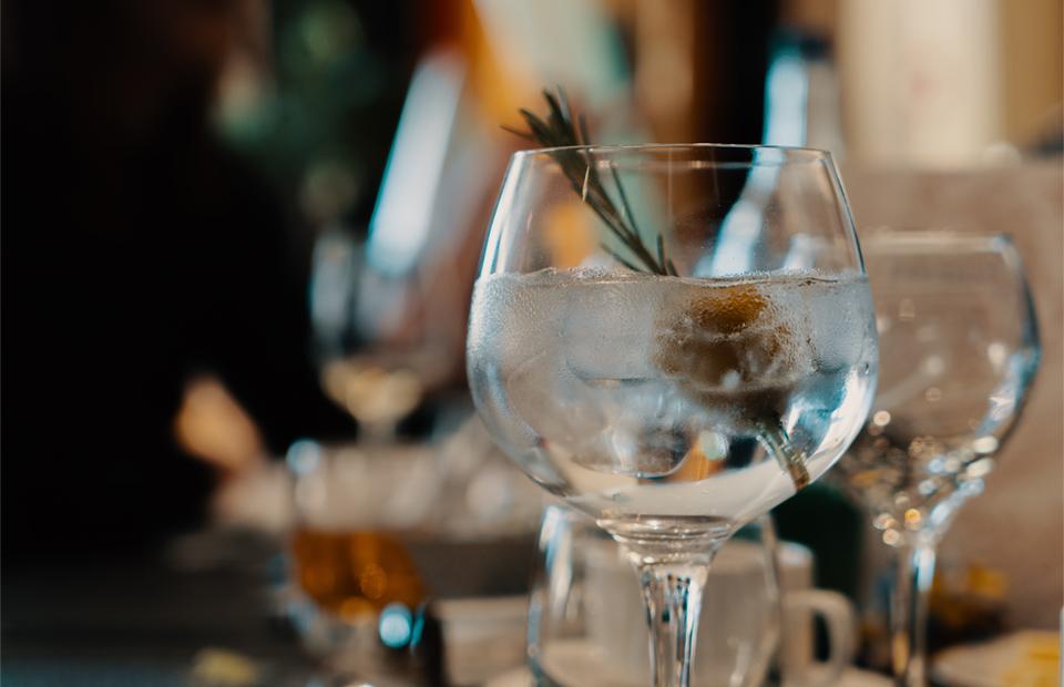 Gin and tonic en casa