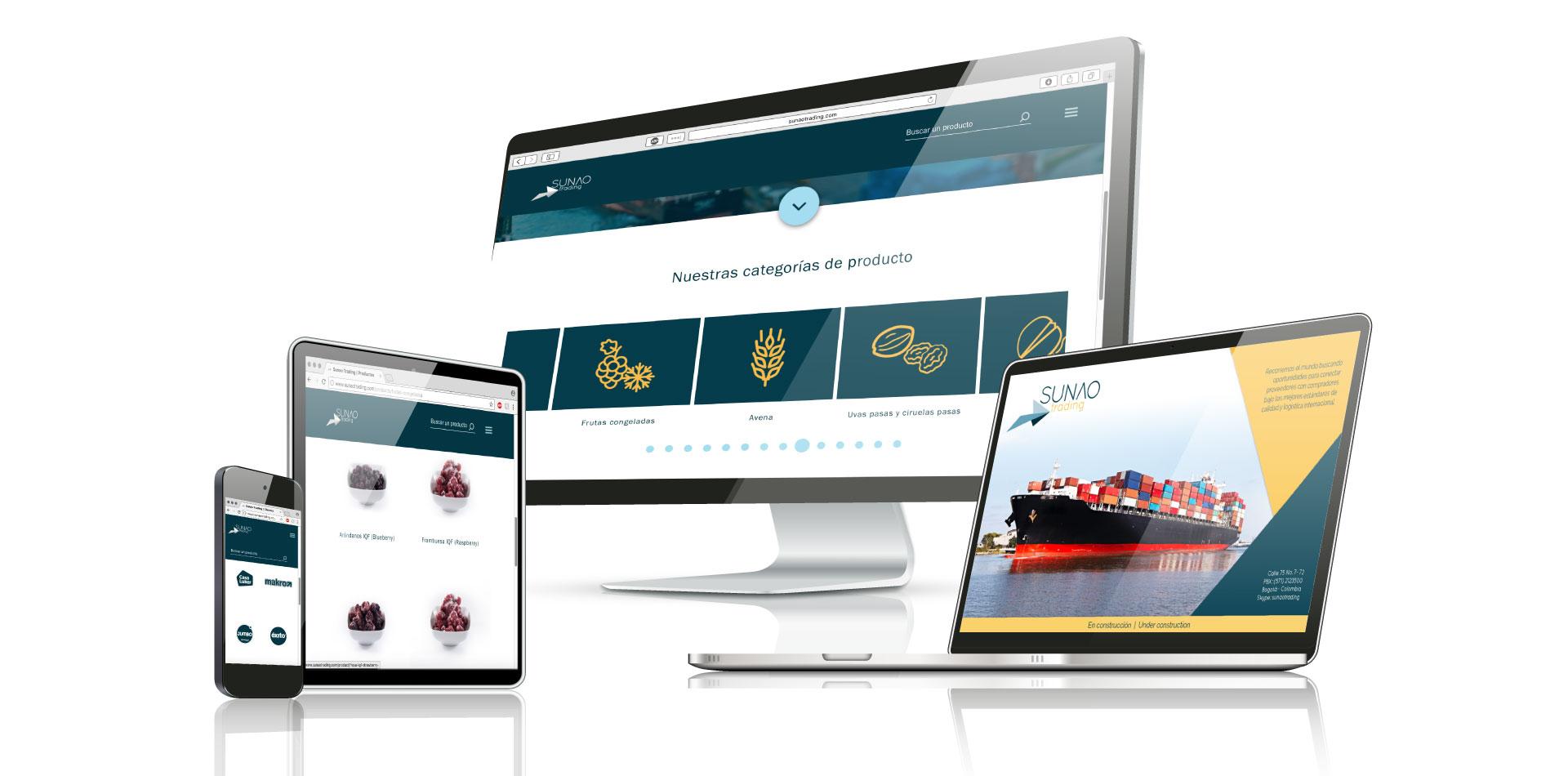Sunao Trading - Página web
